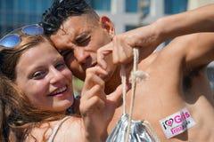 Défilé des lesbiennes et des homosexuels Les gens Photos libres de droits