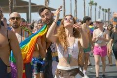 Défilé des lesbiennes et des homosexuels Les gens Image stock