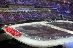 Défilé des nations à la cérémonie d'ouverture Image libre de droits