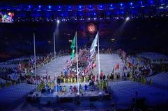 Défilé des nations pendant les Jeux Olympiques Rio2016 Photo stock