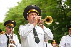 Défilé des orchestres militaires Photos stock