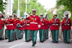 Défilé des orchestres militaires Images stock