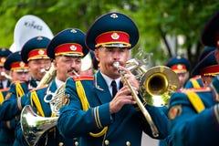 Défilé des orchestres militaires Photographie stock libre de droits