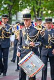 Défilé des orchestres militaires Photo libre de droits