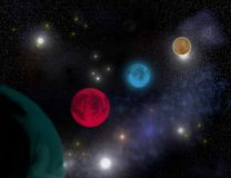 Défilé des planètes Images stock