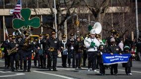 Défilé du jour de St Patrick Image libre de droits