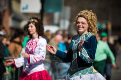 Défilé du jour de St Patrick images stock