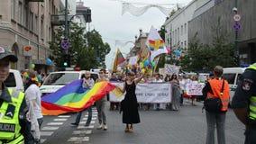 Défilé gai international banque de vidéos