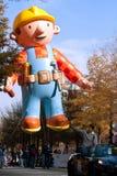 Défilé gonflé de Noël de Balloon In Atlanta de travailleur de la construction Photo libre de droits