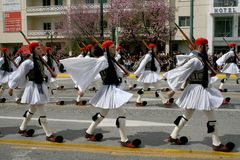 Défilé grec de Jour de la Déclaration d'Indépendance Photos stock