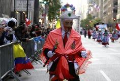 Défilé hispanique de jour à New York photo stock