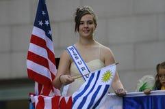 Défilé hispanique de jour à New York photographie stock
