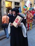 Défilé historique à Firenze photographie stock libre de droits