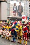 Défilé historique à Florence, avec des frais supplémentaires dans des costumes charnus Photos libres de droits