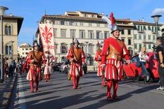 Défilé historique à Florence, Italie Images stock