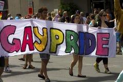 Défilé homosexuel Montréal de fierté image stock
