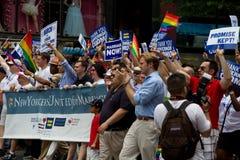 Défilé homosexuel New York City 2011 de fierté Photographie stock