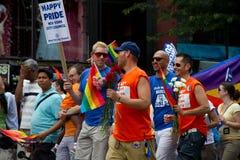 Défilé homosexuel New York City 2011 de fierté Image libre de droits