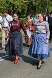 Défilé hongrois traditionnel de récolte le 11 septembre 2016 dans vi Photo stock