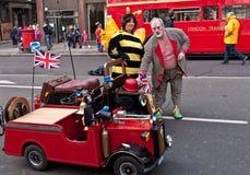 Défilé Londres du jour d'an neuf. Photo stock