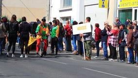 Défilé mexicain au carnaval de Limoux en Aude, France clips vidéos