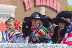défilé mexicain Chicago de Jour de la Déclaration d'Indépendance de 26ème rue Photos stock