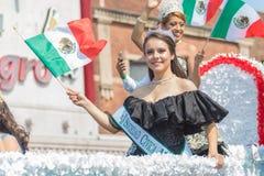 défilé mexicain Chicago de Jour de la Déclaration d'Indépendance de 26ème rue Photos libres de droits