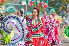 défilé mexicain Chicago de Jour de la Déclaration d'Indépendance de 26ème rue Images libres de droits
