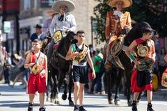 Défilé mexicain 2018 de Jour de la Déclaration d'Indépendance de Pilsen image libre de droits