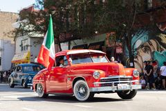 Défilé mexicain 2018 de Jour de la Déclaration d'Indépendance de Pilsen photographie stock