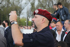 Défilé militaire à BELGRADE Images stock