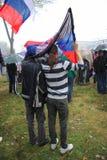 Défilé militaire à BELGRADE Photo stock