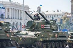 Défilé militaire à Kiev, Ukraine Photographie stock libre de droits