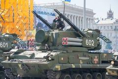 Défilé militaire à Kiev, Ukraine Photographie stock