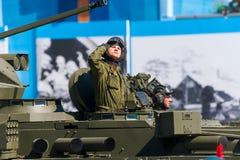 Défilé militaire à Moscou, Russie, 2015 Photographie stock libre de droits
