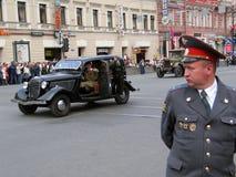 Défilé militaire à St Petersburg, Russie Photographie stock