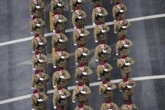 Défilé militaire célébrant le jour national de la Roumanie image libre de droits