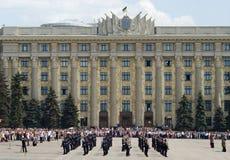Défilé militaire de jour de victoire Photographie stock