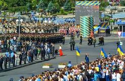 Défilé militaire des forces armées de l'Ukraine Image libre de droits
