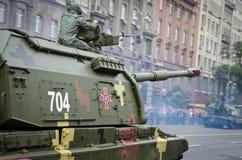 Défilé militaire en capitale ukrainienne Photos stock