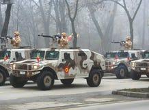 Défilé militaire - peloton de Hummer Images libres de droits