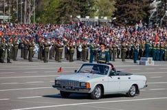 Défilé militaire pendant la célébration du jour de victoire Images stock