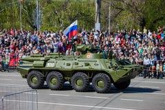 Défilé militaire pendant la célébration du jour de victoire Photos stock
