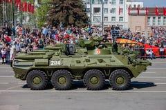 Défilé militaire pendant la célébration du jour de victoire Photo libre de droits