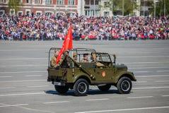 Défilé militaire pendant la célébration du jour de victoire Image stock