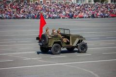 Défilé militaire pendant la célébration du jour de victoire Photographie stock