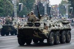 Défilé militaire pour le Jour de la Déclaration d'Indépendance ukrainien Photo libre de droits
