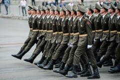 Défilé militaire pour le Jour de la Déclaration d'Indépendance ukrainien Photo stock