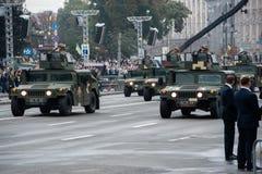 Défilé militaire pour le Jour de la Déclaration d'Indépendance ukrainien Photos stock