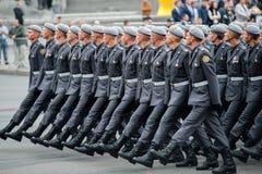 Défilé militaire pour le Jour de la Déclaration d'Indépendance ukrainien Images libres de droits